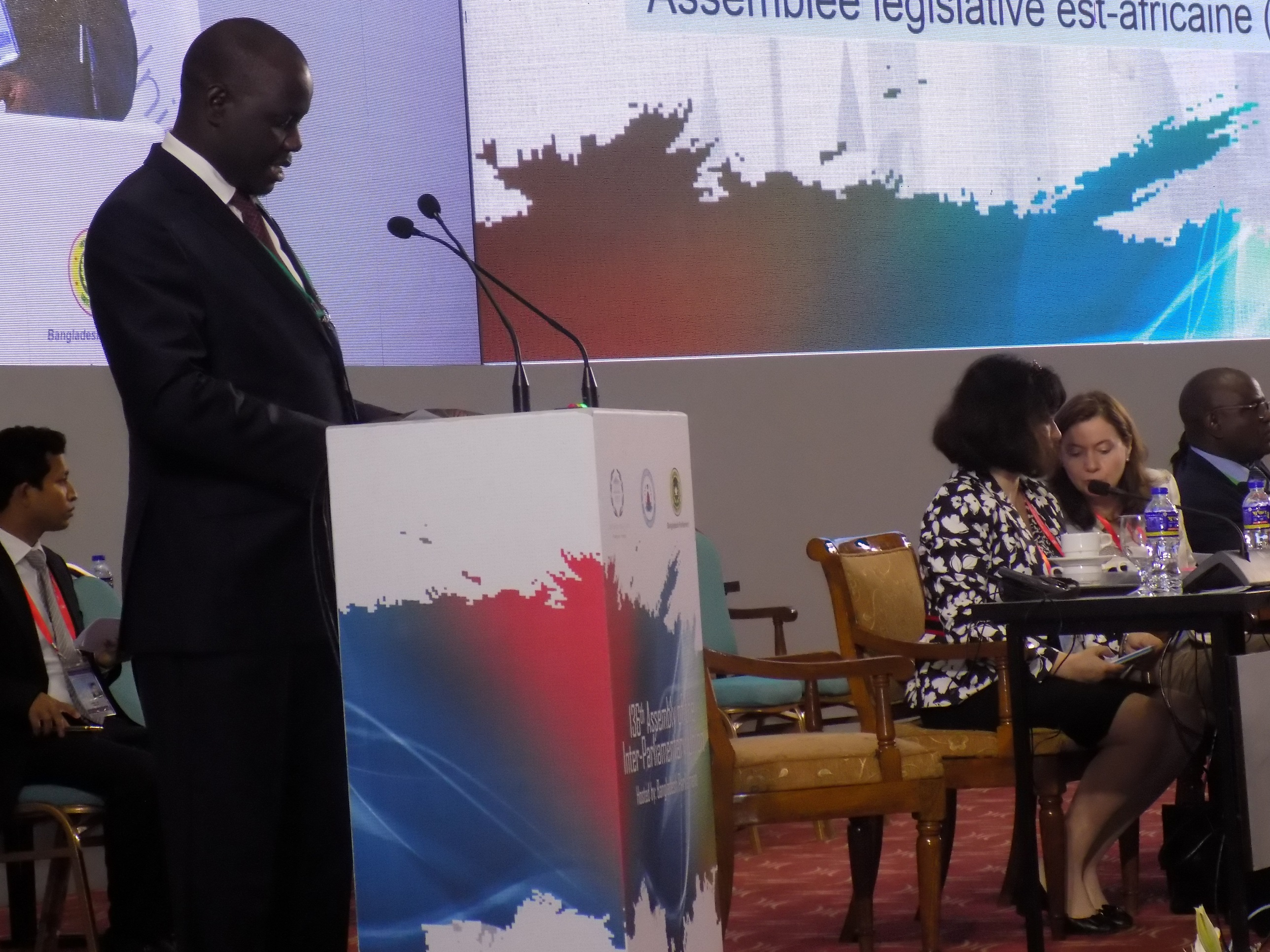Rt Hon Daniel F. Kidega, Speaker of EALA addresses the IPU Assembly