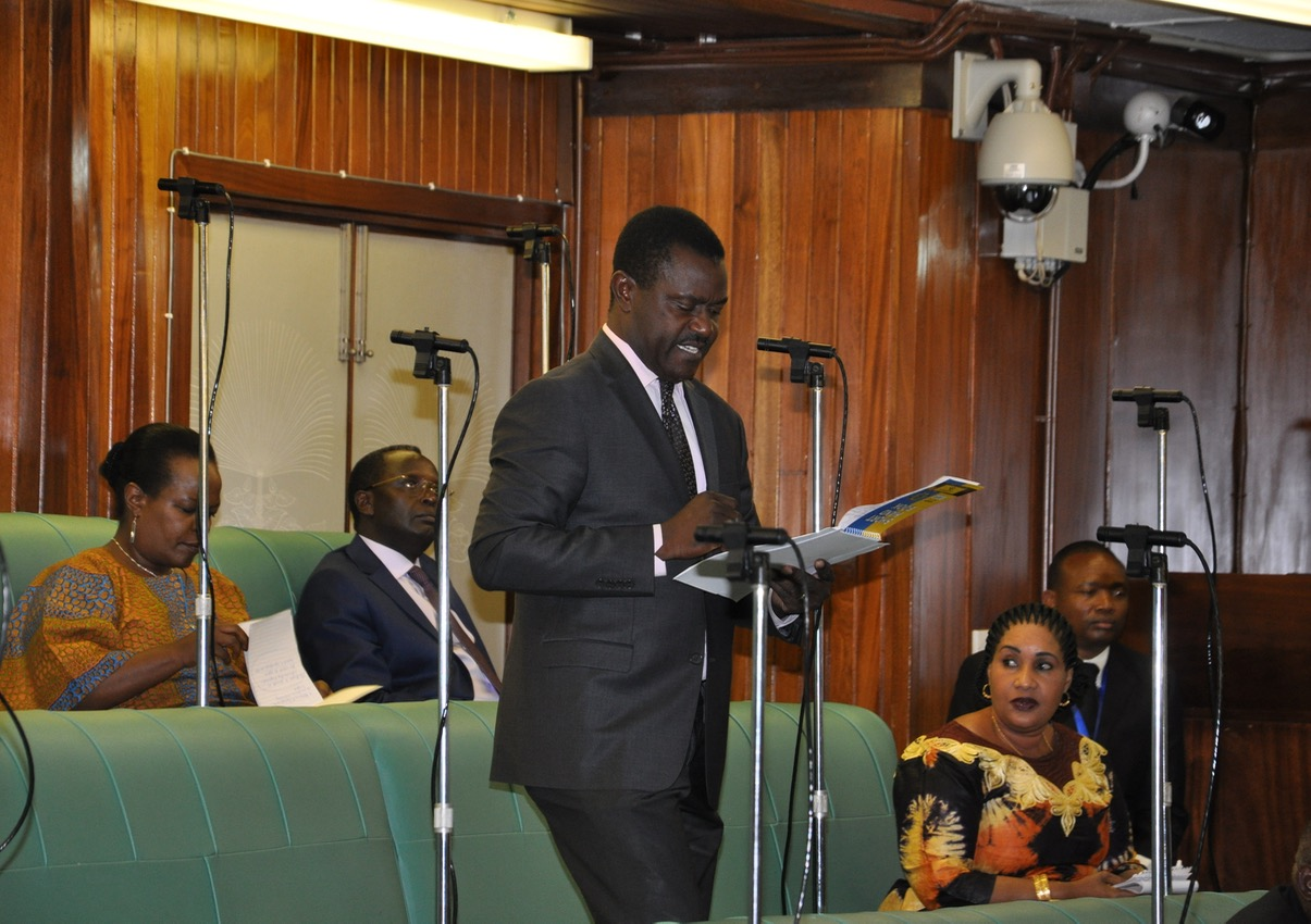 Hon Bernard Mulengani makes his contribution on the floor of the House