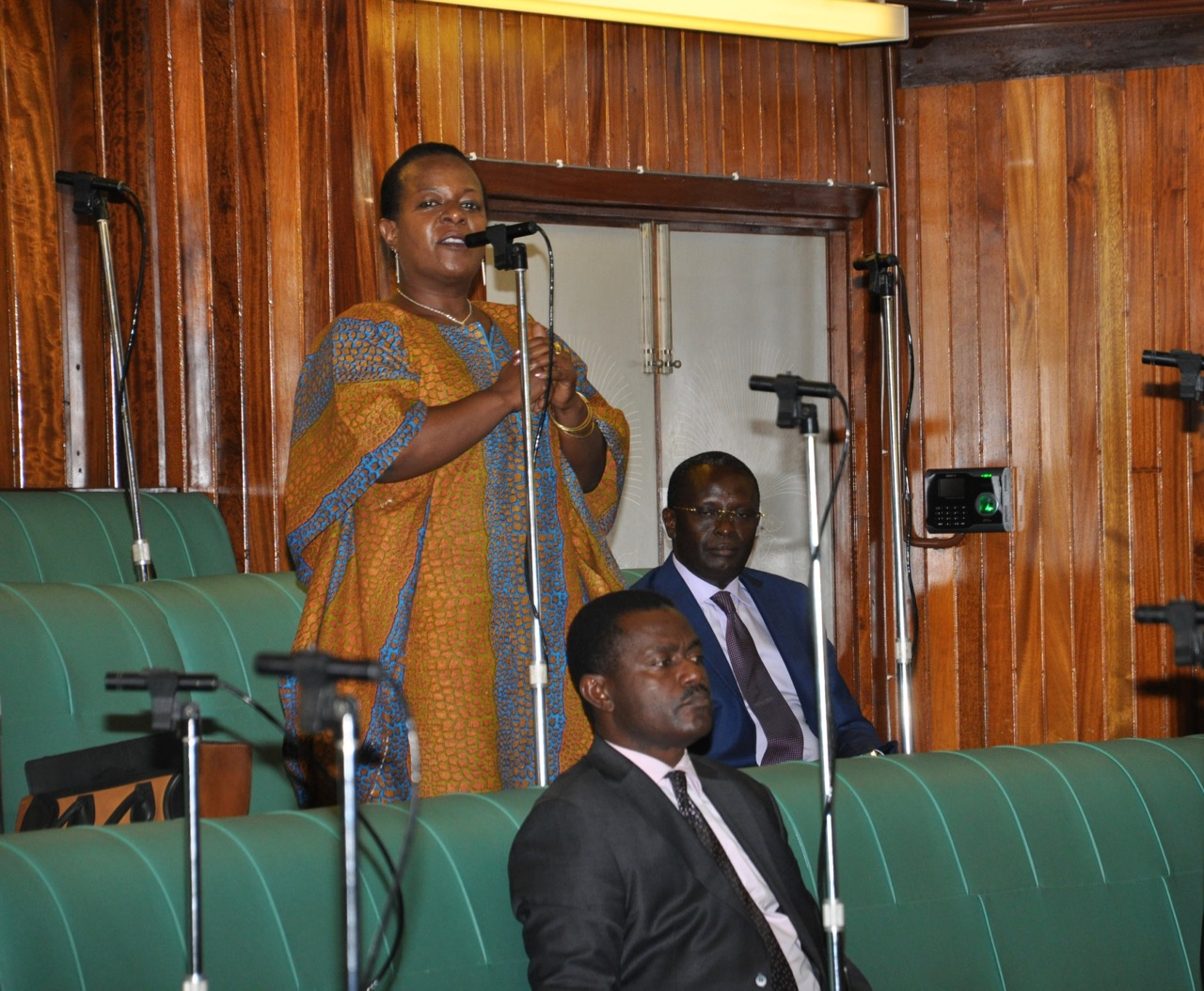 Hon Dora Byamukama, Mover of the EAC Prohibition of Female Genital Mutilation Bill on the floor of the House