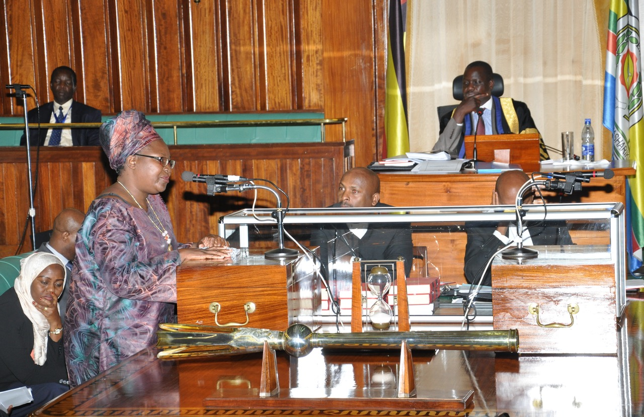 Chair of the Council of Ministers, Hon Dr Susan A. Kolimba addresses the House