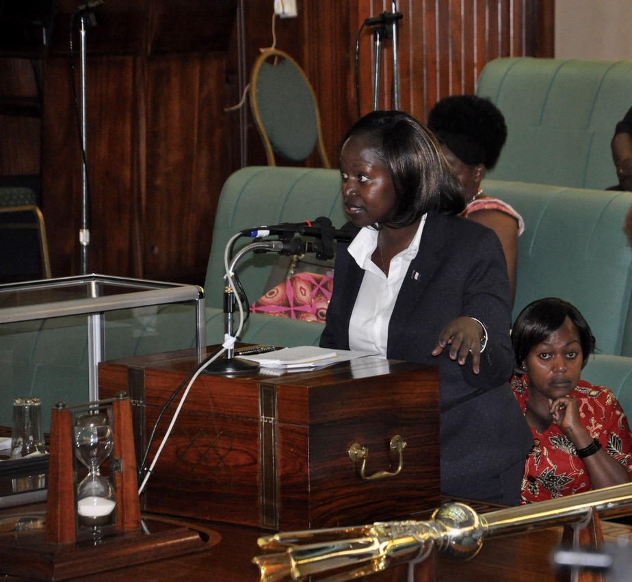 Hon Susan Nakawuki makes her contribution to the Administration of the EACJ Bill, 2016