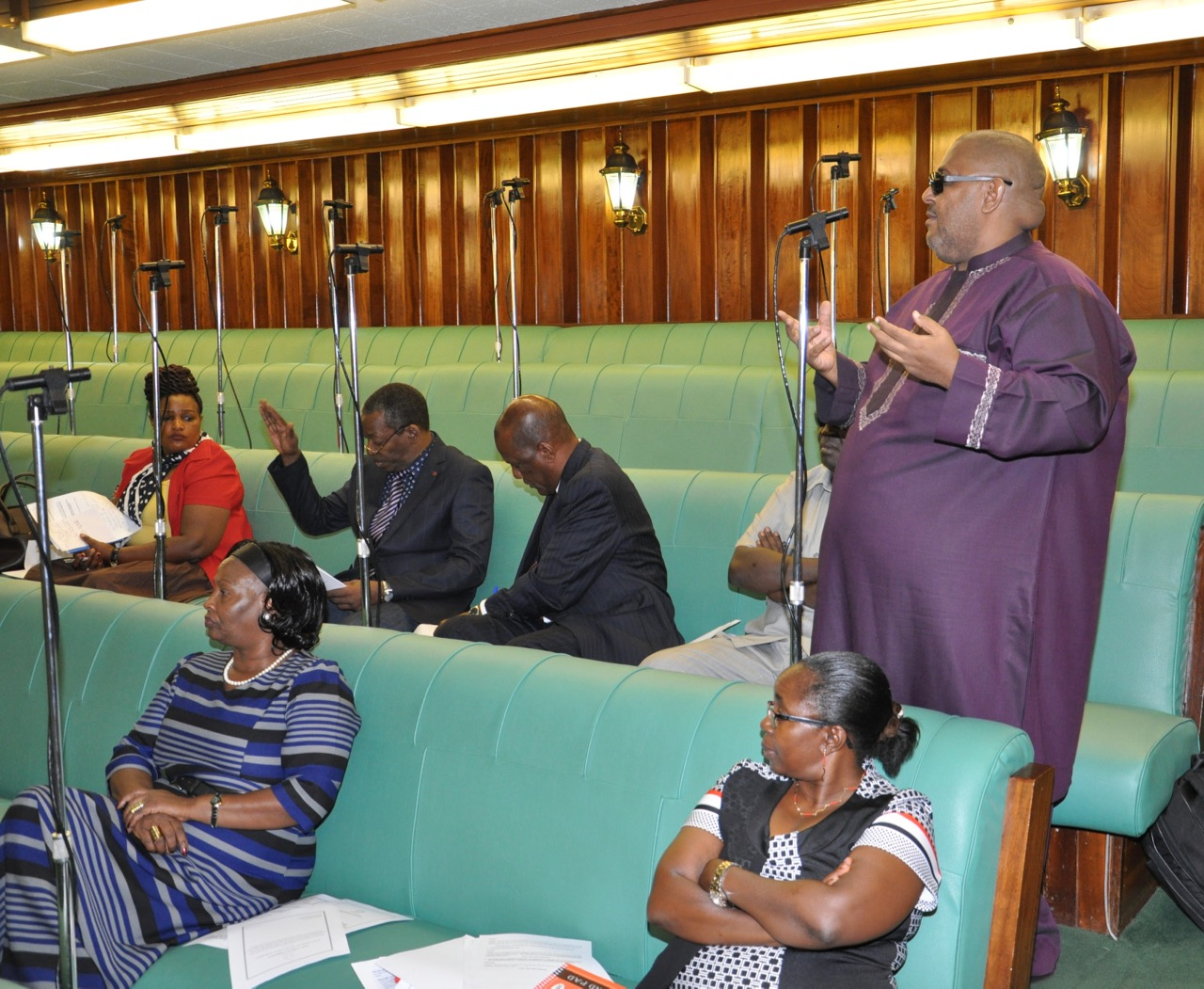 Hon Abubakar Zein contributes to the Motion on the floor of the House yesterday