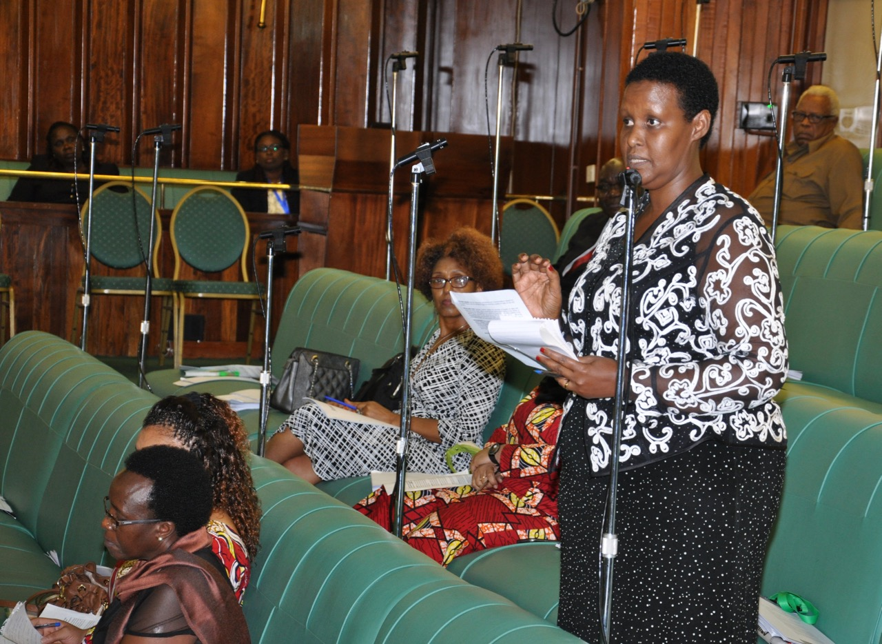 Hon Oda Gasinzigwa contributes to the debate on outlawing Gender Based violence