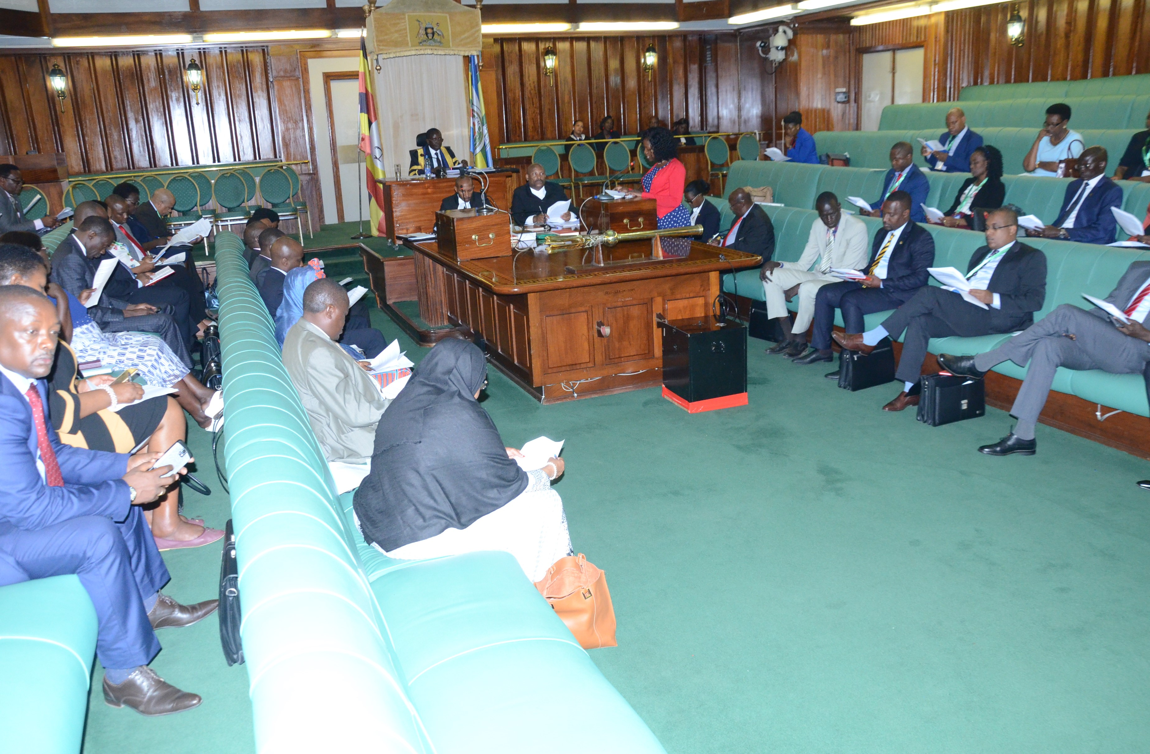 A section of the House pay attention to the proceedings earlier today
