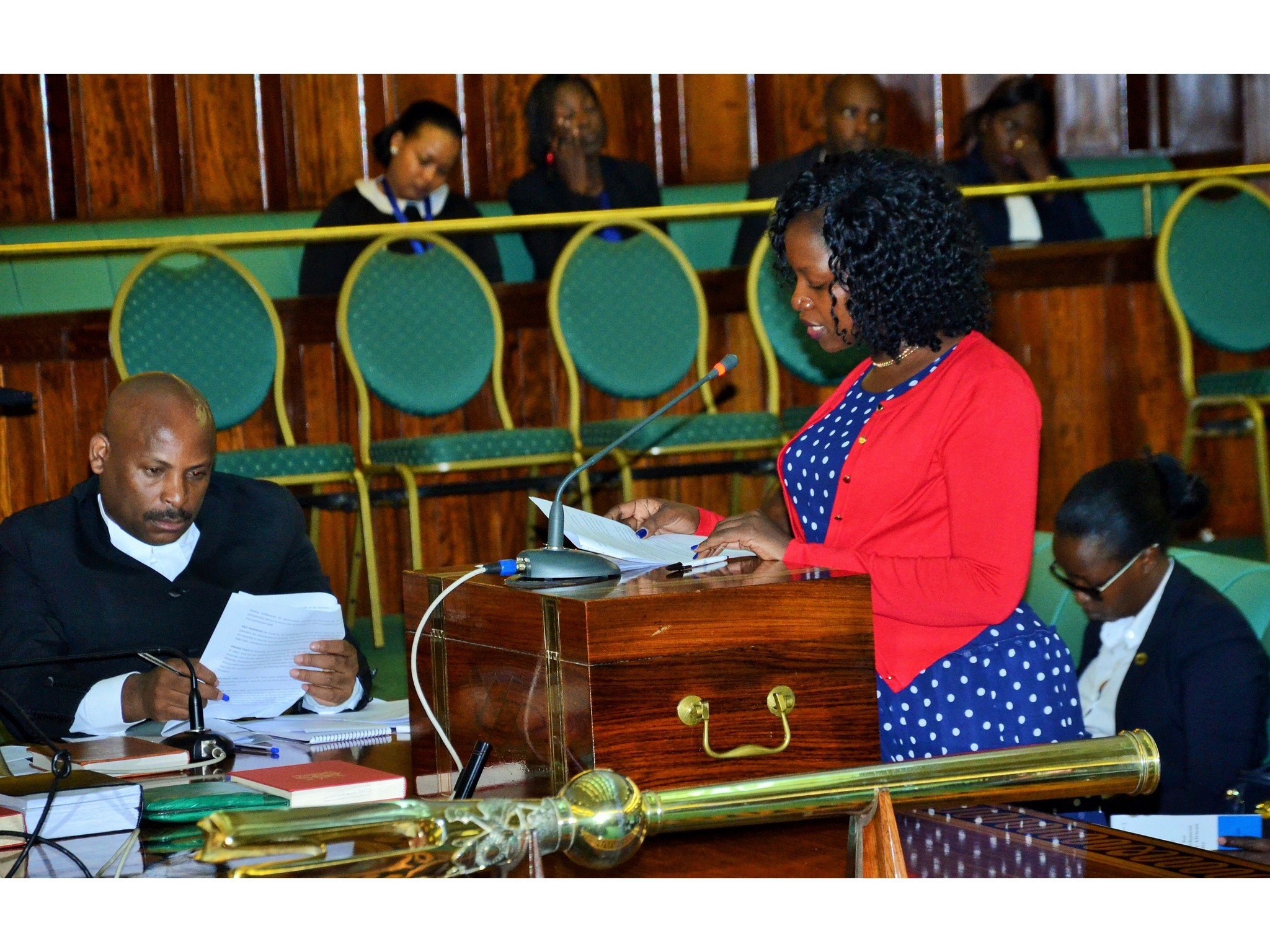 Hon Susan Nakawuki, the mover of the Resolution seeking to operationalize autonomy